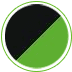 Ebony and candy lime green icon